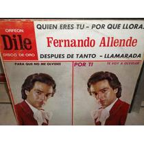 Fernando Allende Dile Lp Vinilo Disco De Acetato