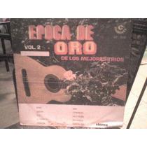 Disco Lp Acetato Epoca De Oro De Los Mejores Trios Vol.2