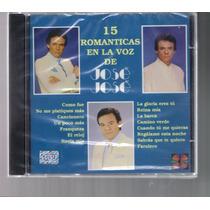 Cd Jose Jose 15 Romanticas En La Voz De-nuevo-sellado