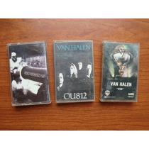 Lote De 3 Cassette Nacional Van Halen Hard Rock De Coleccion