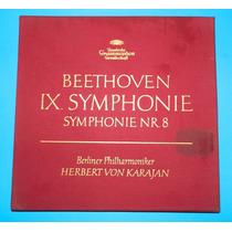 Vintage Discos Lp Beethoven Ix Symphonie Album De Lujo