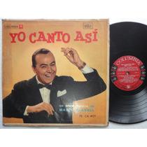 Lp Yo Canto Asi Un Show Musical Mario Clavell Columbia Peru