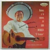 Juan Mendoza El Tariacuri / Boleros 1 Disco Lp Vinilo
