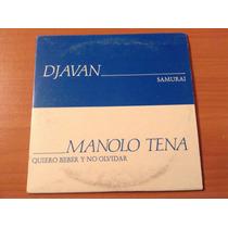 Manolo Tena Quiero Beber Y No Olvidar (djavan) Cd Promo