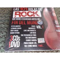 Las 101 Rolas De Rock Vol.1 (3cd+1dvd) Nuevo Y Sellado