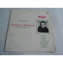 Genaro Salinas Recordando Al Tenor De Oro / Lp Vinil