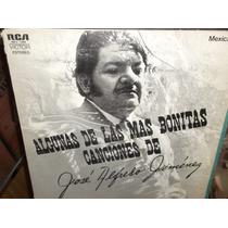 Jose Alfredo Jimenez Algunas De Las Mas Bonitas Canciones Lp