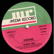 Vinilo Maxi 12 Albert One - Visions High Energy Italo Disco