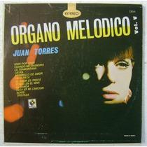 Juan Torres Organo Melodico / Vol.v 1 Disco Lp Vinilo