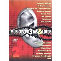 Dvd Musicos, Po3tas & Locos Envio,lector Usb Gratis Sp0