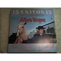 Disco Lp Alberto Vazquez - 15 Exitos Con Tambora -