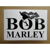 Sticker Vinil Calcomania Bob Marley Logo (20 X 13 Cm)