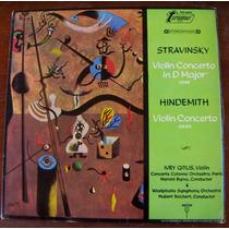 Clásica, Stravinski,violin Concerto, Lp12