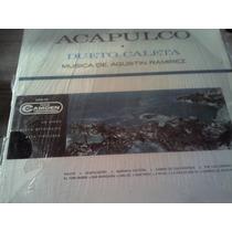 Disco Acetato De Acapulco Dueto Caleta Musica De Agustin Ra