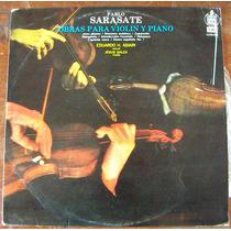 Clasica, Pablo Sarasate, Obras Para Violin Y Piano, Lp12´,