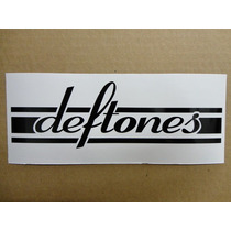 Sticker Vinil Calcomania Deftones Logo (21 X 7 Cm)