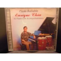 Enrique Chia Cd Piano Bailable Al Piano Con Acompañamiento