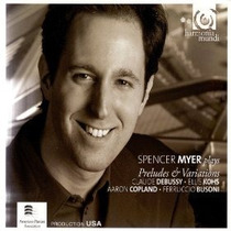 Piano Spencer Myer - Preludes & Variations Debussy Cd Sp0