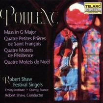 Poulenc Misa En Sol Robert Shaw Brahms Cd Clasica Bfn