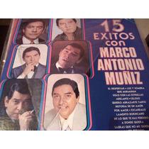 Disco De Acetato De 12 Exitos Con Marco Antonio Muñiz