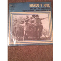 Disco Chico 45 Rpm De Marco Y Jose