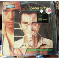 Rock Inter, Peter Gabriel, I Don´t Remember, Lp 12´, Mdn