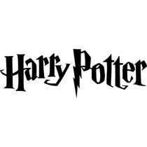 Set 2 Stickers Vinil Autoadherible Harry Potter Logo 25x8 Cm
