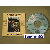 Vicente Fernandez Lo Mejor De La Baraja Con El Rey 1991 Cd