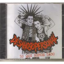 Desahogo Personal - Lo Que Hemos.. ( Punk Rock Hardcore ) Cd