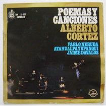 Alberto Cortez / Poemas Y Canciones. 1 Disco Lp Vinil