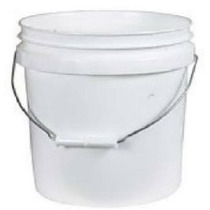 Leaktite 744456 1 Galón Plástico Blanco Cubo De Pintura Cubo