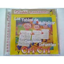 Cd Infantil. Tablas De Multiplicar, Temas Para Niños.