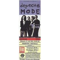 Depeche Mode Frankfurt Alemania Memorabilia De Coleccion Hm4