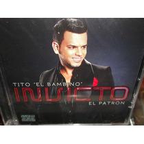 Tito El Bambino Invicto El Patron Cd Sellado