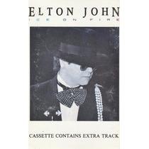 Elton John: Ice On Fire. Cassette Raro Usado 1ra Ed 1985 Usa
