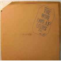 The Who / Live At Leeds 1 Disco Lp Vinilo