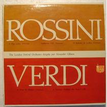 Verdi Rossini / Oberturas Famosas 1 Disco Lp Vinilo