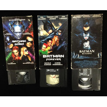 Lote 3 Vhs Batman Vintage Dc Comics Joker Tim Burton