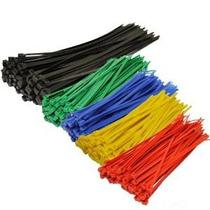 Topzoneâ® Colores Surtidos Nylon Bridas Zip Auto Bloqueo, 25