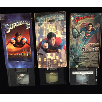 Lote 3 Vhs Superman 1 2 Y 3 Vintage Dc Comics Batman Joker