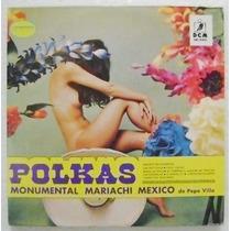 Polkas Mariachi Mexico De Pepe Villa 1 Disco Lp Vinil