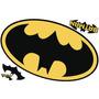 Batman Logo Borrado En Seco Cáscara Y Palillo Giant Wall Dec