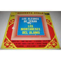 Los Alegres De Teran- Montañeses Del Alamo- Disco Lp Norteño