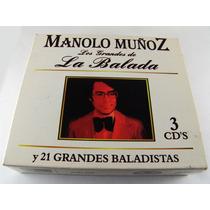 Manolo Muñoz Los Grandes De La Balada 3 Cd´s Seminuevos 2005