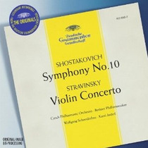Shostakovich - Sinfonia 10 Cd Stravinsky Violin Clasica Op4