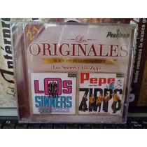 Cd Los Sinners & Los Zipps. Los Originales Peerless.