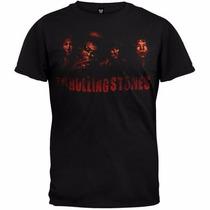 The Rolling Stones - Smoke Band Playera Unisex Tallas: L, M