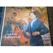Disco Acetato De Los Triunfos De Juan Legido