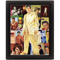 Elvis Presley Póster - King Of Rock 25.4cmx 20.3cm 3d