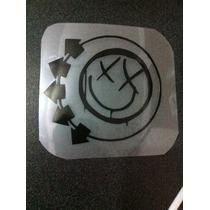 Calcas Recortadas En Vinyl Negro Blink 182 Logo